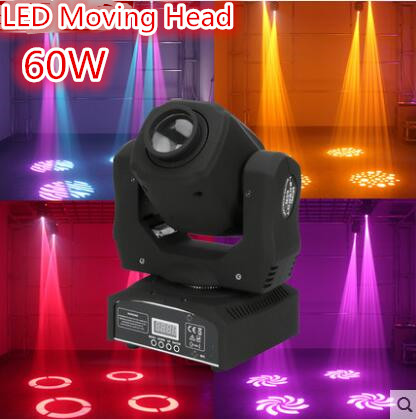 LED 60W spots Light DMX Stage Spot Moving 9/11 Channels dj 8 gobos effect stage lights Mini LED Moving Head spot 60w dj led moving head light disco lamp beam gobos dmx music party lights channels professional led stage lighting effect