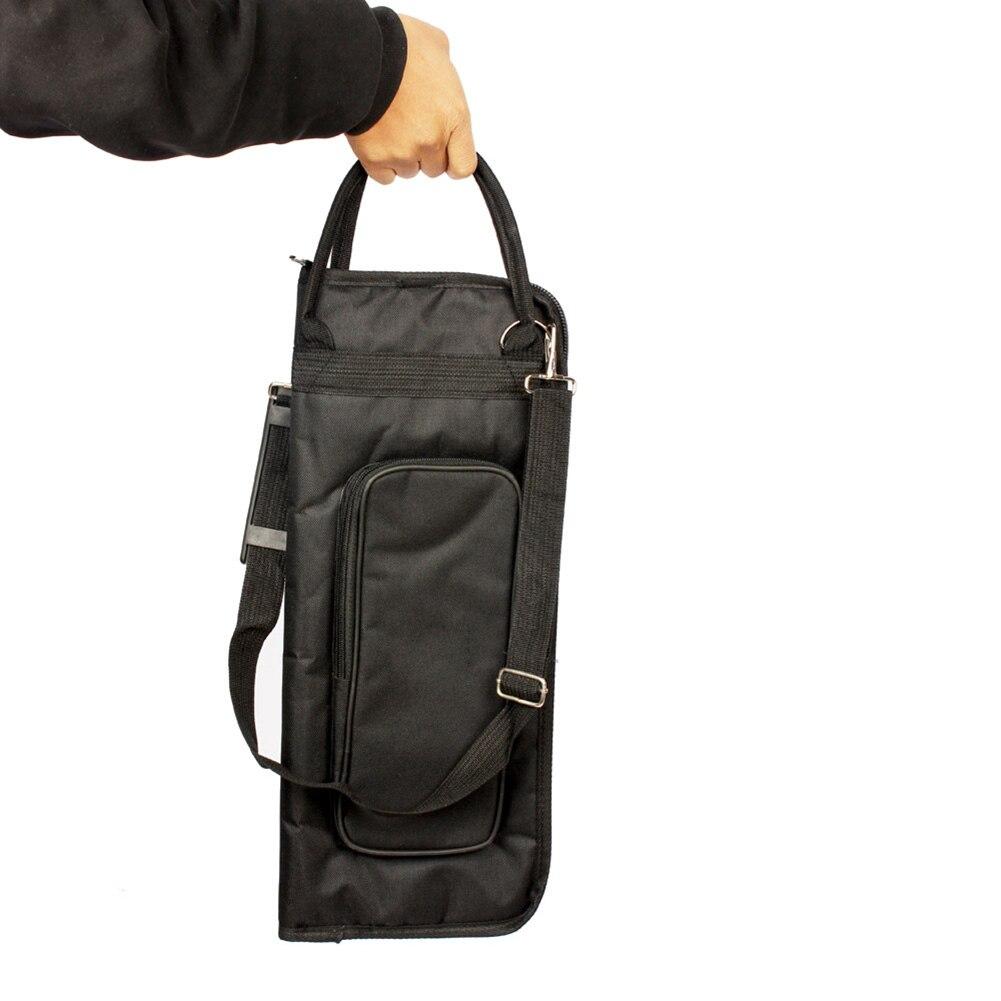 1pcs 600D Drumsticks Gig Bag Water-resistant Oxford Cloth Drum Sticks BagHandy Strap Gripped Handle Pocket Cotton Padded