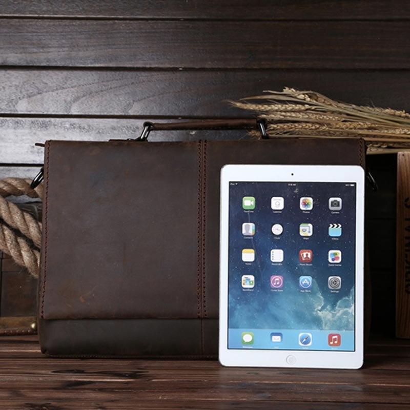 Brown Business Taschen Schulter Laptop Männer Echtem Umhängetasche 1079 Yishen Aktentasche Handtaschen Leder Männlichen Lässig Vintage 6dvxqHw
