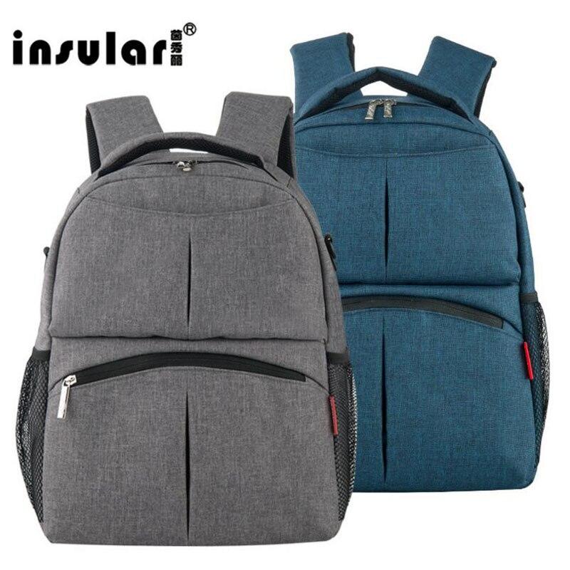 insular baby diaper bag backpack for stroller large capacity bolsa maternidade cotton nappy bag. Black Bedroom Furniture Sets. Home Design Ideas