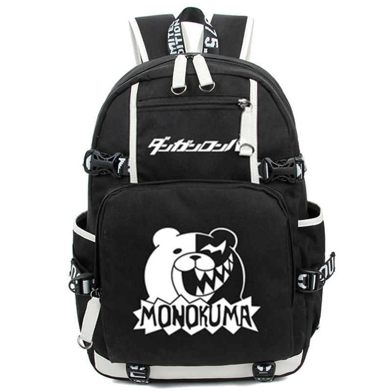 New Arrival Dangan Ronpa Danganronpa Monokuma School Backpack Cosplay Shoulder Bag Luminous Students Travel Bags Free Shipping
