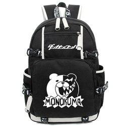 Nouveauté Dangan Ronpa Danganronpa Monokuma école sac à dos Cosplay sac à bandoulière lumineux étudiants sacs de voyage livraison gratuite