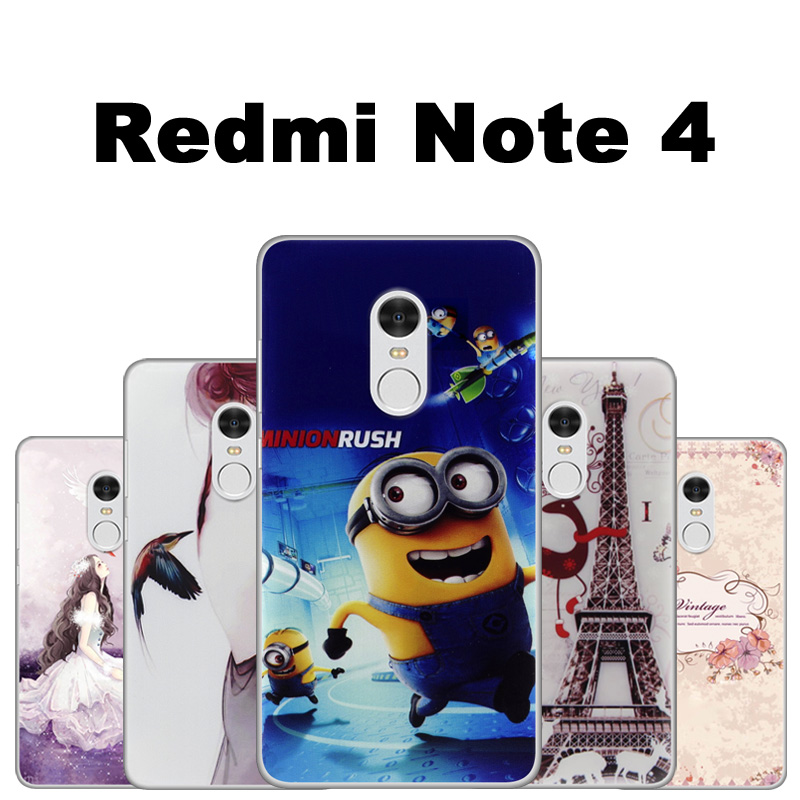 xiomi xiaomi redmi note 4 case cover painting tpu case for