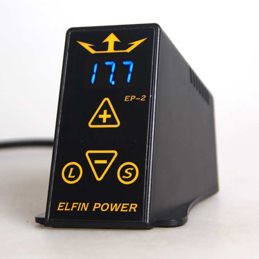 ФОТО 1Pcs Professional  ELFIN POWER Tattoo Power Supply for Tattoo Machine Guns fuentes de alimentacion tattoo power supplies tattoo