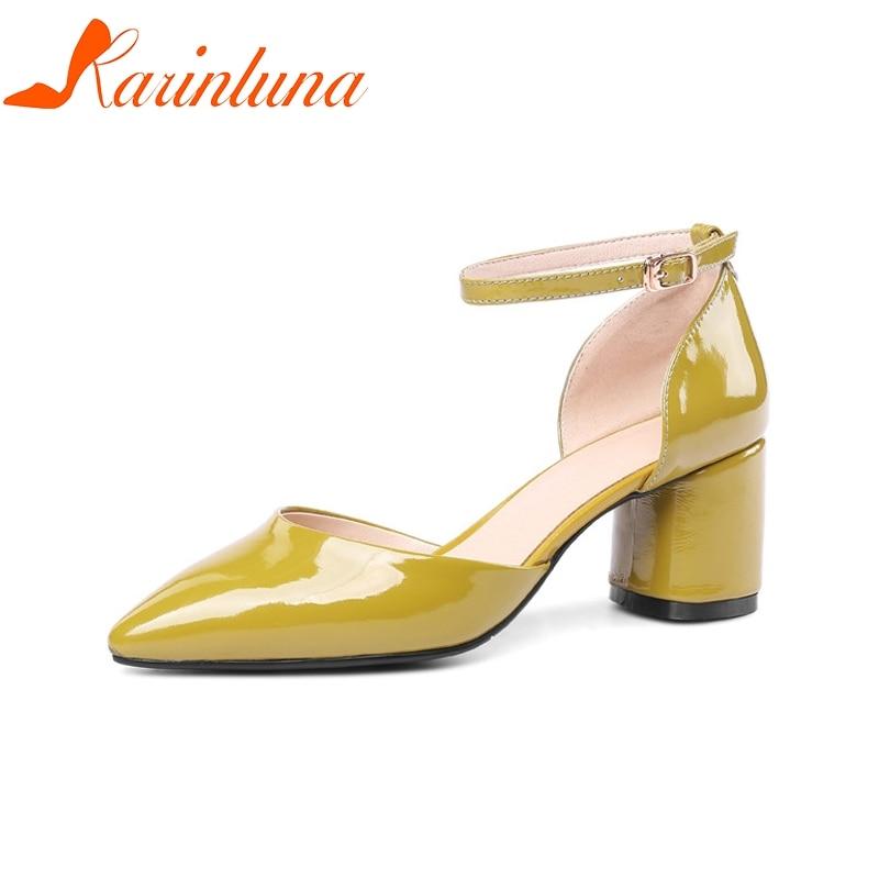 Rosado Sandalias 33 Zapatos Dedo Correa Cuadrado Pie Nuevas Auténtico  Mujeres Tacones Cuero Verano Tamaño Grande ... 73d8ce5e8ca2