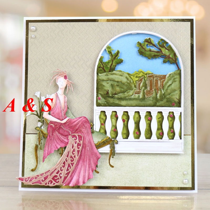 M55 Beautiful Woman Designs Metal Cutting Dies Stencils Scrapbooking/Photo Album DIY Embossing Decorative Accessories