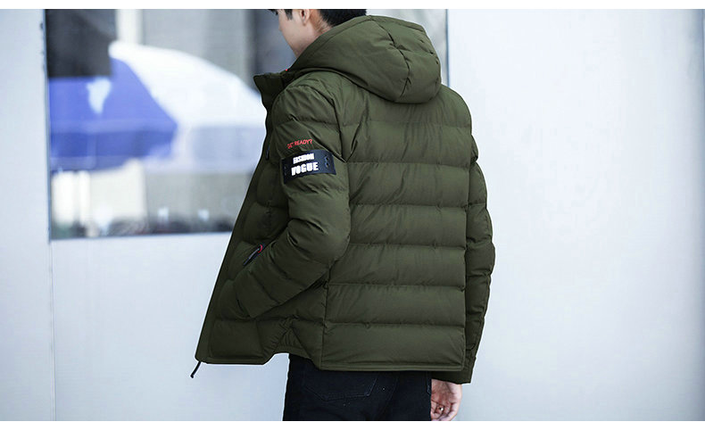 drop shipping New Fashion Men Winter Jacket Coat Hooded Warm Mens Winter Coat Casual Slim Fit Student Male Overcoat ABZ82 11
