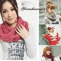 2016 de Invierno Bufanda pañuelo para el cuello de Las Mujeres de Punto de algodón puro de cuello Bufandas Calidez espesor Cuello Círculo Bufanda bufandas cuellos