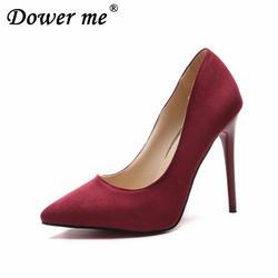 Heelaholic/2019 женские туфли-лодочки, модная женская обувь из флока, универсальные женские туфли-лодочки на платформе с острым носком, без