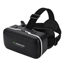 VR SHINECON Virtual Reality 3D VR Glasses Giant Screen Cardboard Helmet VR Goggles Glasses BOX for 4-6 Inch Smart Mobile Phone(China)