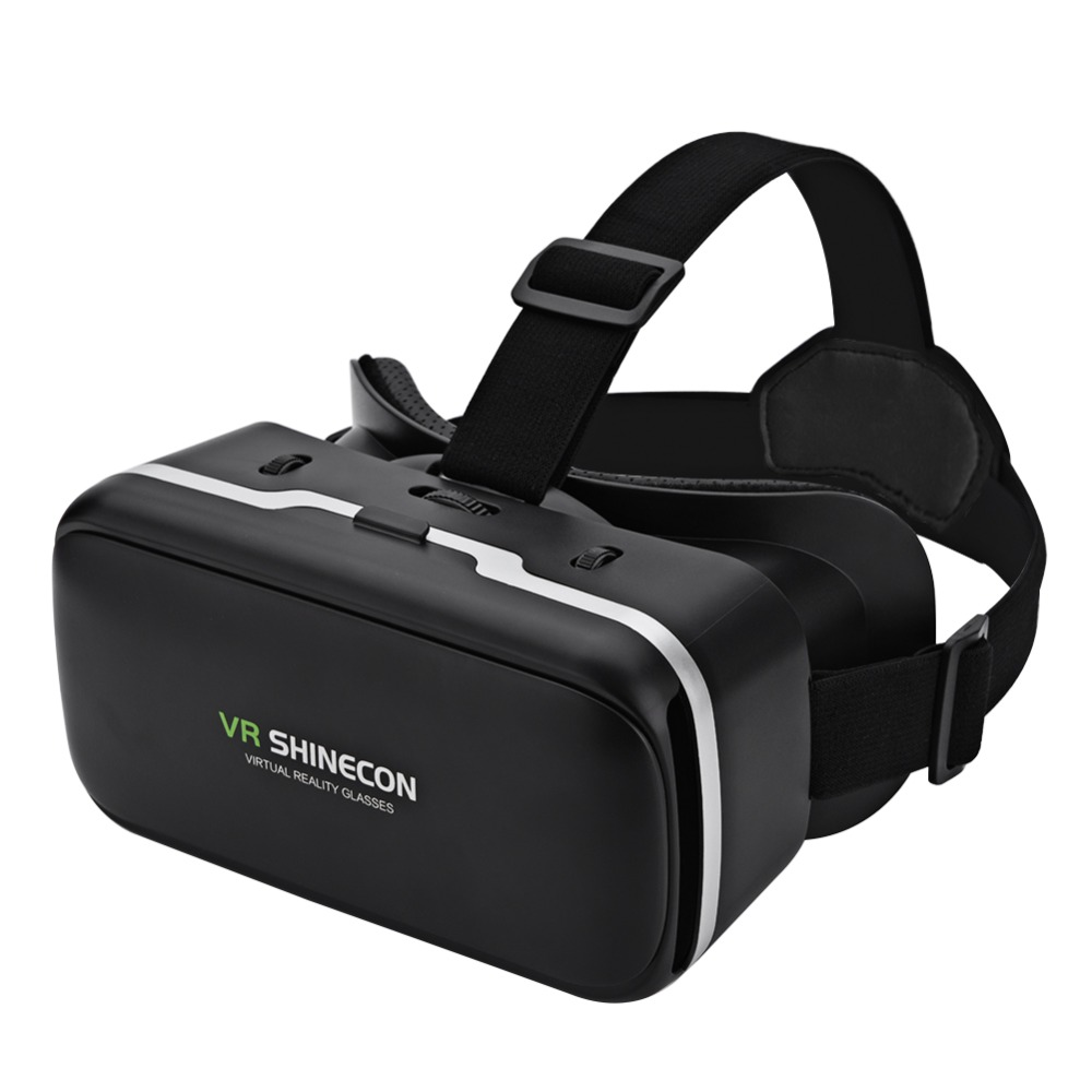 VR SHINECON Virtual Reality 3D VR Glasses Giant Screen Cardboard Helmet VR Goggles Glasses BOX for 4-6 Inch Smart Mobile Phone