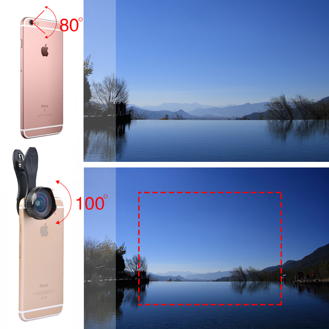Apexel Optic Pro Lens 18MM HD Wide Angle Cell Phone Camera Lens Kit 2X More Landscape for Android IOS Smartphones 18M 5