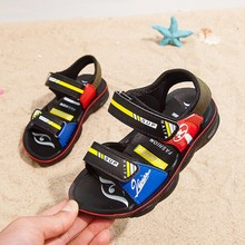 Boys sandals 2019 new men's big children Korean version of the big boy summer baby children soft bottom children's shoes