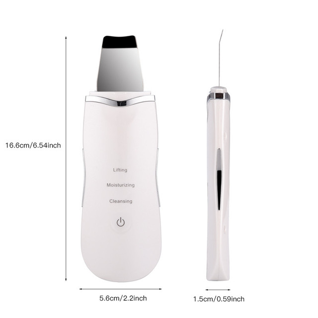 Ultrasonic Ion Deep Cleaning Skin Scrubber Peeling Shovel Facial Pore Cleaner Blackhead Remover Face Lifting USB Rechargeable 53