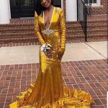 Mbcullyd Mbcully Mermaid Prom Dresses 2019 Long Sleeves