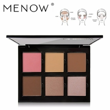 MENOW cheek blush makeup palette is 6 color face powder natural contours of the long lasting dropship mk01 cosmetic