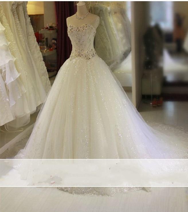 Vestido de novia 2017 Vintage luxurious Beading font b Wedding b font Dress Lace font b