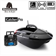 GPS Autopilot BearCreeks iCatcher V3 Carp fishing Bait Boat with Lithium battery &elective BC151 Colour Fishfinder Explosion Hook