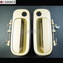 ISANCE Beige Outside Door Handle Front Left & Front Right 69220-33020 & 69210-33010 For Toyota Camry 1992 1993 1994 1995 1996(China)