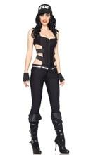Disfraces de Halloween cosplay Mujer Policía DS Discoteca Clubwear Sexy Uniformes fancy Cosplay Polo l Carnaval Fantasia traje