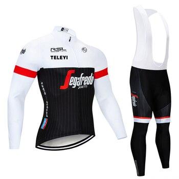 2017 TREKING roupas de Inverno manga comprida ciclismo jersey bib calças ciclismo bicicleta ciclismo desgaste conjunto