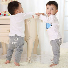 Hot Sale spring autumn kids clothing girls harem baby pants cotton owl children trousers boys pants