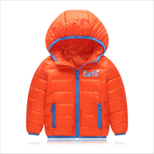 Hooded girls winter jackets 90% duck feather boys winter coats windproof Children winter coats 2017 kids clothes for 2-10 years