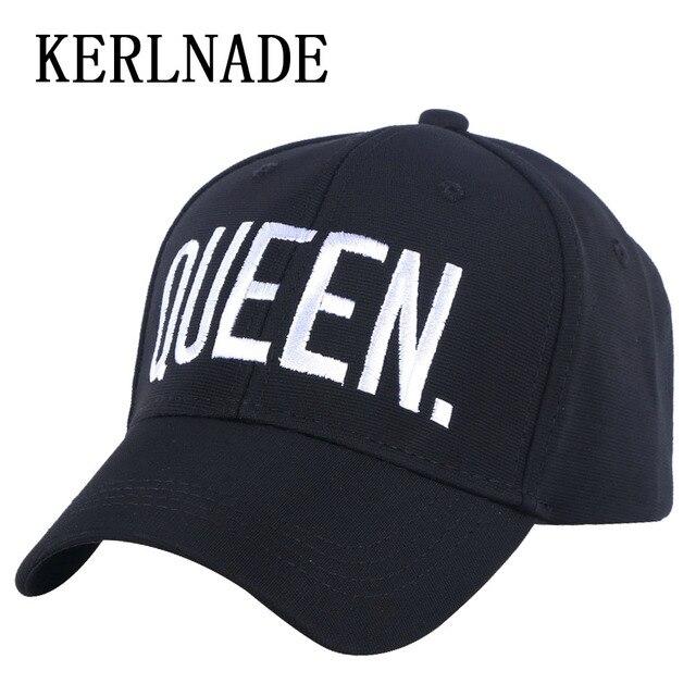Baru Modis Wanita Topi Pria Kasual Topi Olahraga Bisbol Topi Bordir Desain  Sederhana Queen Raja Huruf 134c94f560