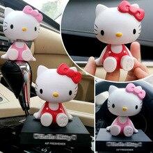 Car ornaments cute cartoon cat head shaking cradles dashboard accessories mobile phone bracket car gifts
