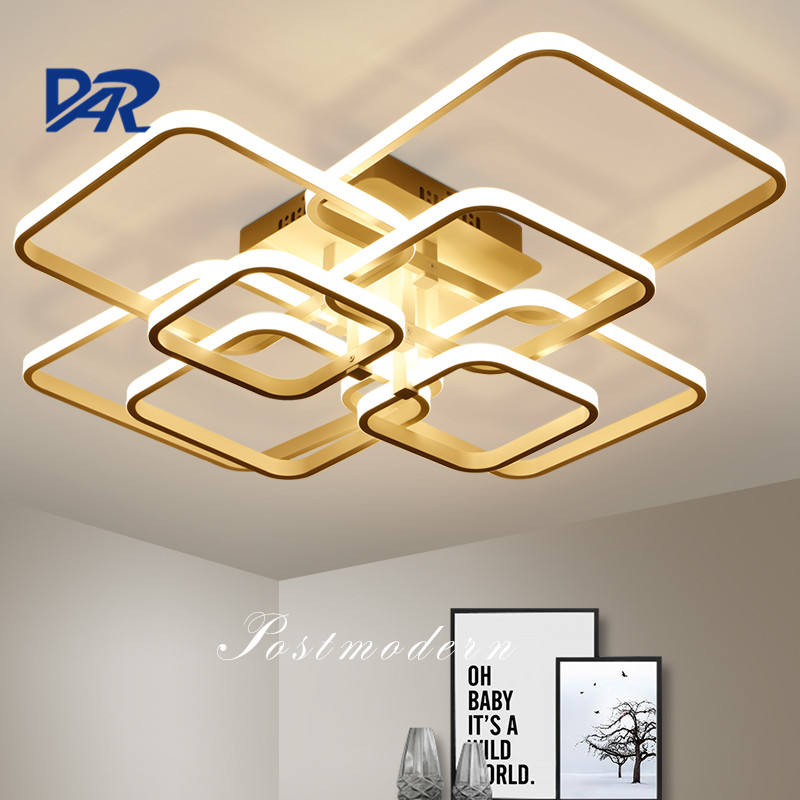 Modern LED Ceiling Lights Rectangle Acrylic Aluminum Ceiling Lamps For Living Room Bedroom Luminaria Led Lustre Lampen Luminaire image