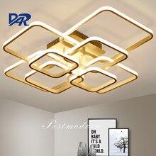 Modern LED Ceiling Lights Rectangle Acrylic Aluminum Ceiling Lamps For Living Room Bedroom Luminaria Led Lustre Lampen Luminaire
