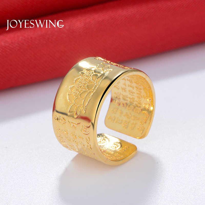 JOYESWING เงิน 925 เครื่องประดับ Vintage Amulet พระพุทธรูป Lotus Baltic พุทธเปิดแหวนผู้ชายผู้หญิงโชคดีของขวัญแหวน