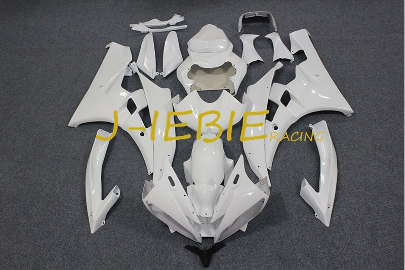 White Injection Fairing Body Work Frame Kit for Yamaha YZF 600 R6 2006-2007