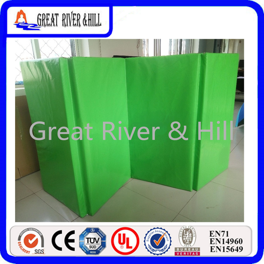 Great River Hill 4 Folding Gymnastics mat 2inch thickness gymnastics mat thick four folding panel fitness exercise 2 4mx1 2mx3cm
