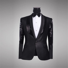 Mens blazer jacket stage costumes for singers stage clothing for men stage jacket mens fashion blazer sequin blazer men
