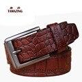 Мужская 100% натуральная кожа пояса дизайнер ремни для мужчин высокое качество пряжкой воловьей ремни
