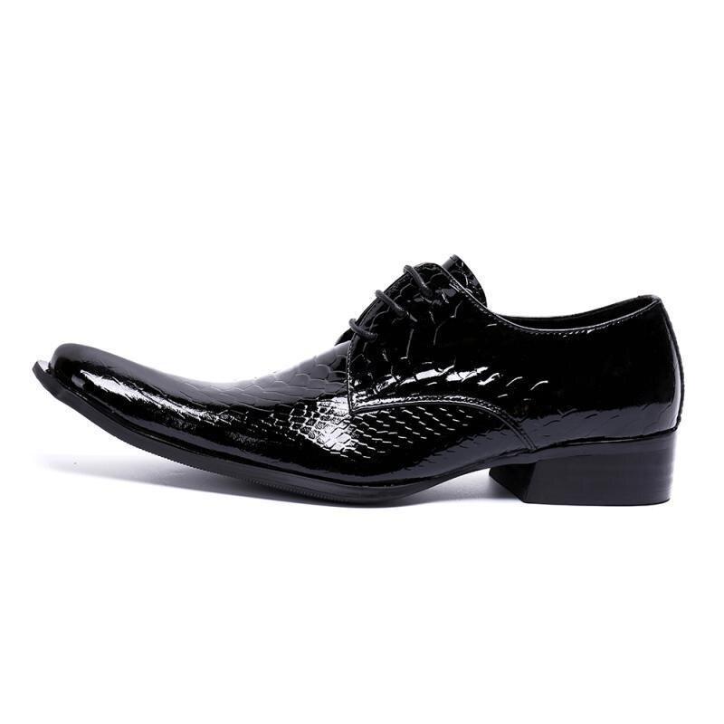 Primavera Hombres Británico Y Calzado Los Negocios Del Formales Black Diseño Estilo Pie Dedo Oficina Zapatos Puntiagudo Transpirable Cuero Verano De Boda qrrdZBwxY
