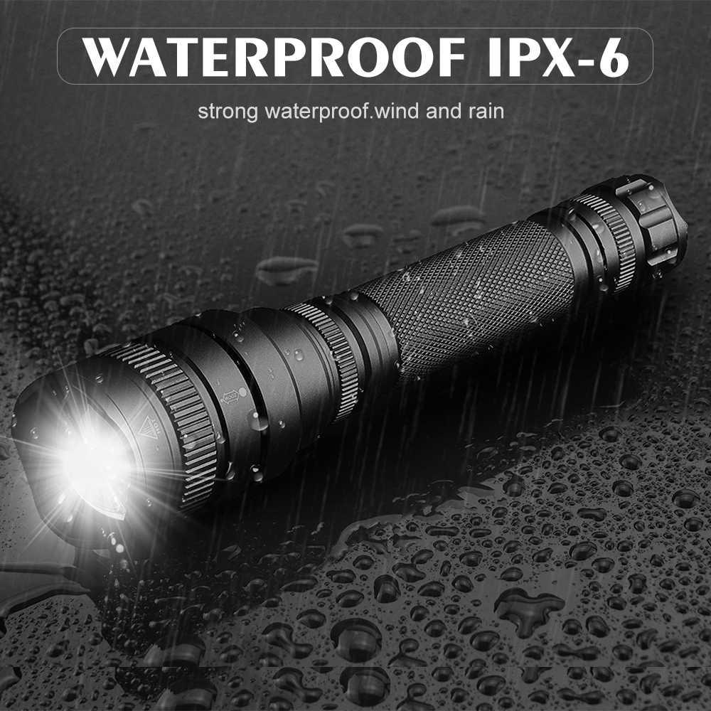 5000 lumens פנס מנורת סופר חזק linterna led zaklamp זום led לפיד xhp50 V6 18650 סוללה הטוב ביותר קמפינג, חיצוני
