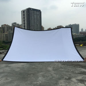 Портативный складной 3D-проектор HD, экран для видеосъемки, 200 дюймов, большой размер, высокая яркость, белый, матовый, 4:3