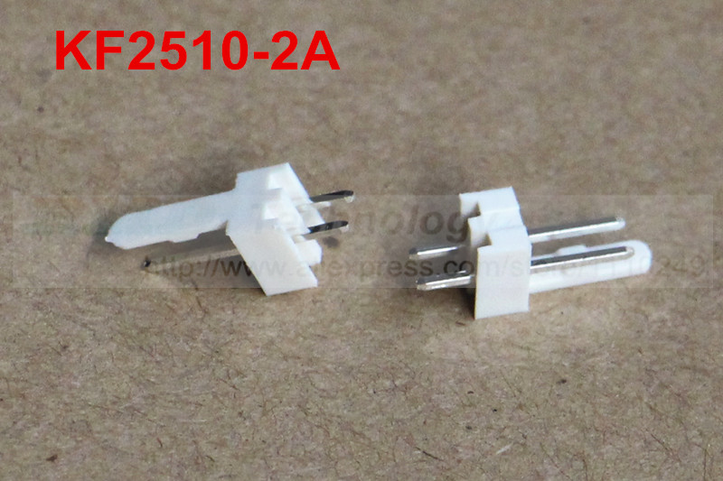 50pcs/lot KF2510 KF2510-2A male connector Pin header 2.54mm 2pin free shipping 50pcs lot kf2510 kf2510 3aw male
