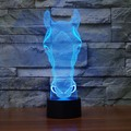 Cute Horse Face Led light  Holiday Atmosphere Decorative Car Toy  Lighting Gadget LED Night Light 3D Illusion Lamp Light