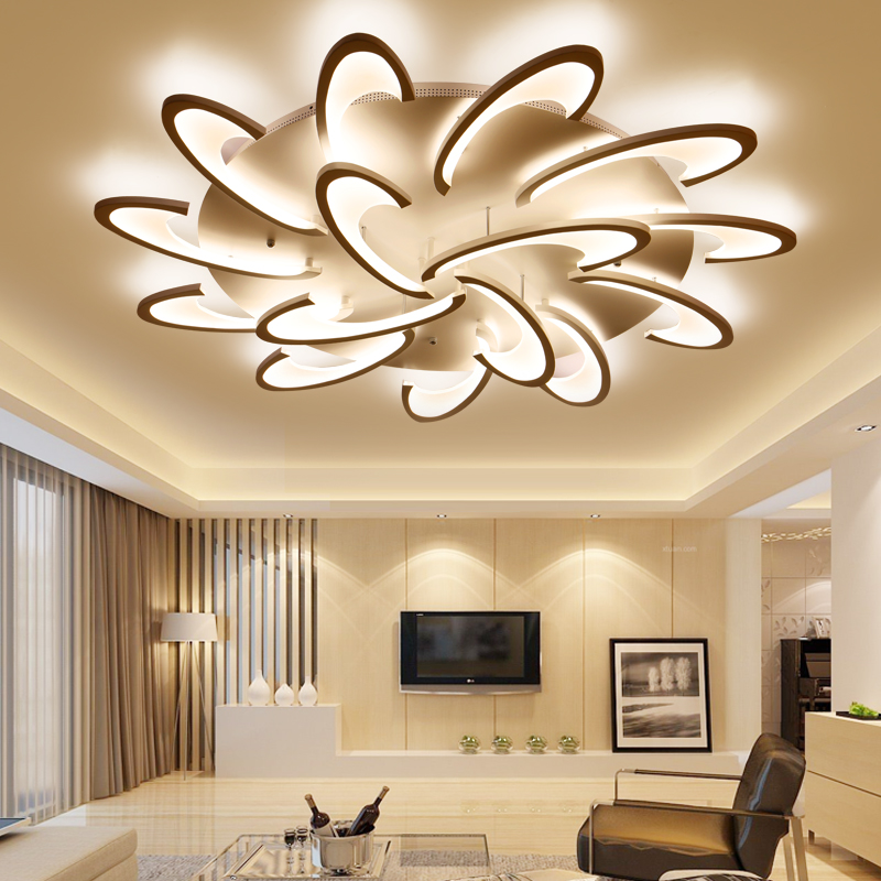 LICAN Modern LED Ceiling Lights for Living room Bedroom luminaire plafonnier Lampara de techo Modern Ceiling lamp Fixtures noosion modern led ceiling lamp for bedroom room black and white color with crystal plafon techo iluminacion lustre de plafond