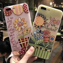 Floral Printed SIlicon iPhone Case