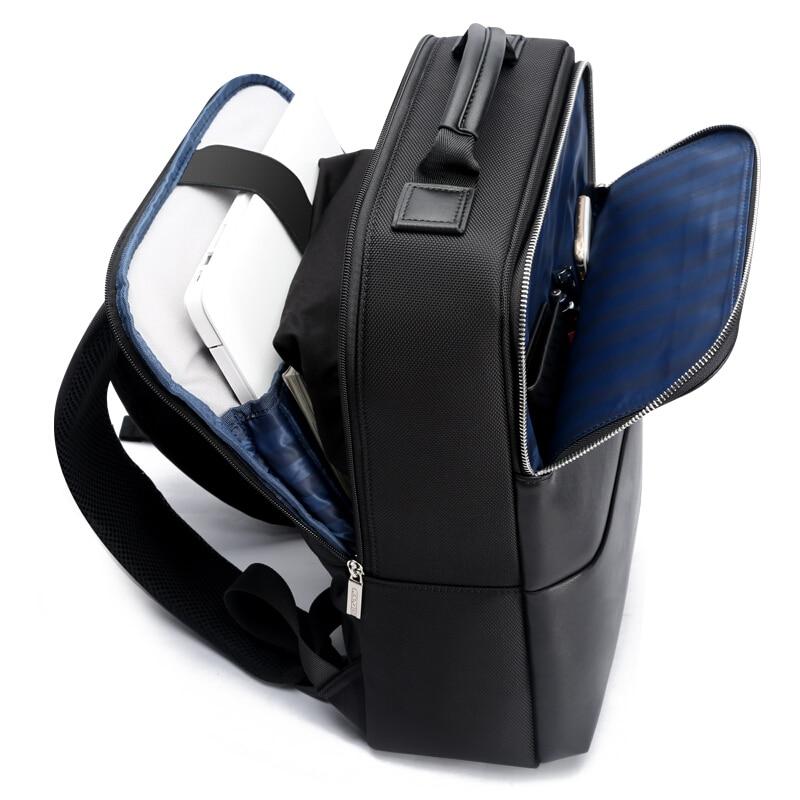 2018 BOPAI Cool hommes sacs à dos homme sac à dos 14 pouces pochette d'ordinateur étudiant cartables hommes voyage en cuir sac à dos sacs noir sac à dos - 3