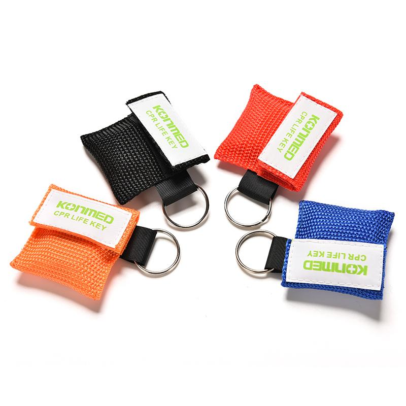 Optional Color CPR Resuscitator Mask Keychain First Aid Emergency Face Shield CPR Mask Health Care Tools
