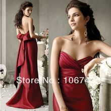 2013 best seller new style best  seiier Sexy bride wedding Custom size bow criss-cross evening dress