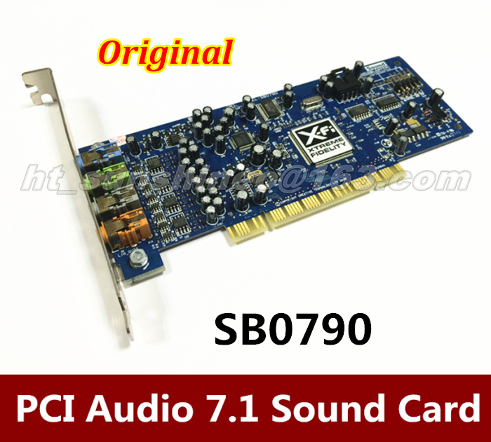 5PCS/LOT Original Sound Blaster SB0790 X-Fi Xtreme Audio 7.1 Channel PCI Sound Card for Creative Desktop queenway amplifier new creative labs sound blaster external sound card for net karaoke x fi surround pro 5 1 usb d a converter