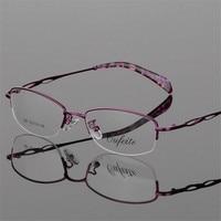 Alloy Elegant Women Glasses Frame Female Vintage Optical Glasses Plain Eye Box Eyeglasses Frames Myopia Eyewear