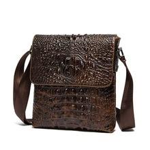 Брендовые сумки на плечо из натуральной кожи, дизайнерские мужские сумки через плечо, сумки на плечо с узором «крокодиловая кожа», винтажные маленькие квадратные сумки, сумки