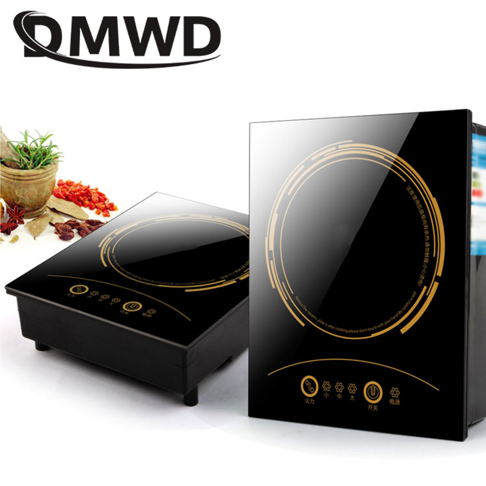 DMWD Hotpot Electric magnetic induction cooker Wire control Embedded Mini Hob Burner Commercial waterproof hot pot stove cooktop dmwd commercial 3500w electromagnetic induction cooker household waterproof mini hotpot cooktop hot pot cooking stove eu us plug